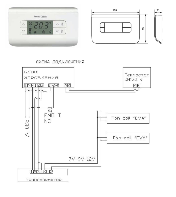 автоматика для конвекторов EVA